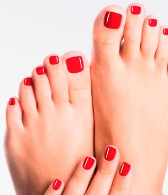 Shellac fødder